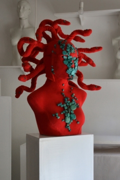 RED.MEDUSA mask-headpiece / sculpture